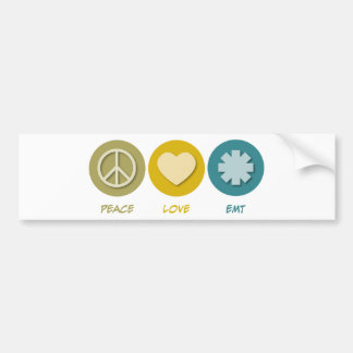 Peace Love EMT Car Bumper Sticker