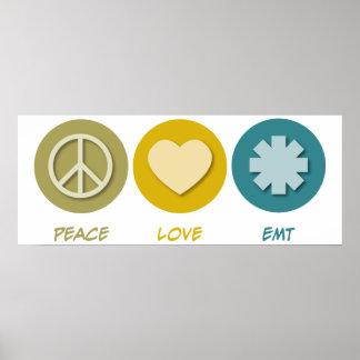 Peace Love EMT Poster