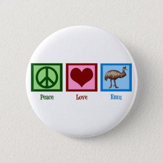 Peace Love Emu Button