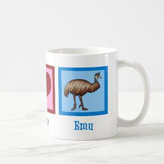 Peace Love Emu Classic White Coffee Mug