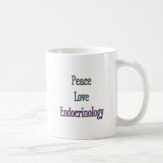 Peace, Love, Endocrinology Coffee Mug