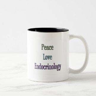 Peace, Love, Endocrinology Two-Tone Coffee Mug