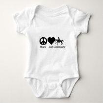 Peace Love Endurance Baby Bodysuit