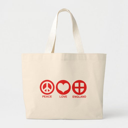 Peace Love England Canvas Bags