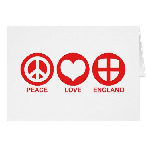 Peace Love England Greeting Card