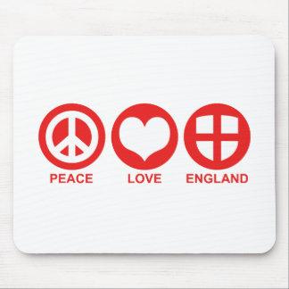 Peace Love England Mouse Pad