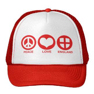 Peace Love England Trucker Hat