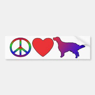 Peace Love English Setters Bumper Sticker