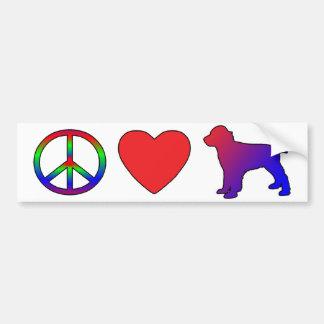 Peace Love English Springer Spaniel Bumper Sticker Car Bumper Sticker