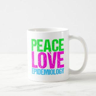 Peace Love Epidemiology Coffee Mug