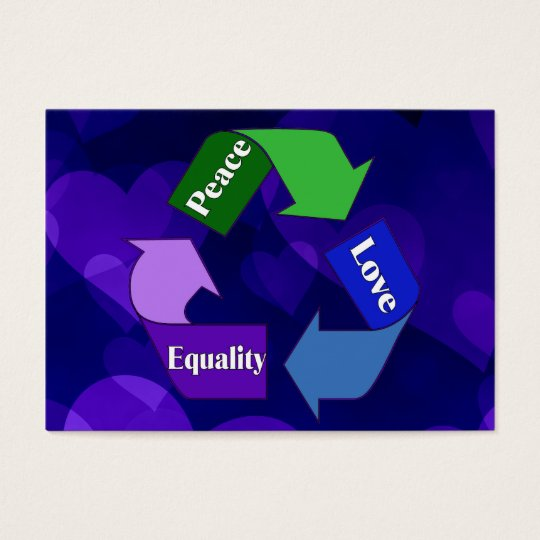 Peace Love Equality Business Card