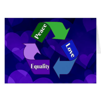 Peace Love Equality Cards