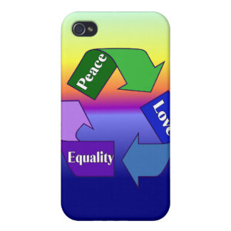 Peace Love Equality Cases For iPhone 4