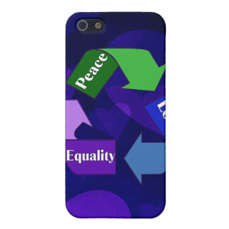 Peace Love Equality iPhone SE/5/5s Cover
