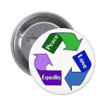 Peace Love Equality Pinback Buttons