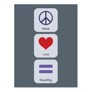 Peace Love Equality Postcard