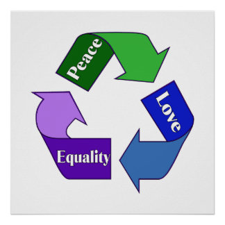 Peace Love Equality Print