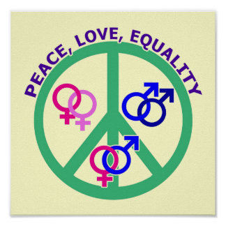 peace, love, equality poster
