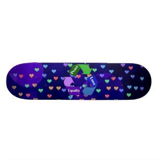 Peace Love Equality Custom Skate Board