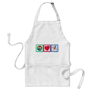 Peace, Love, Equestrian Adult Apron