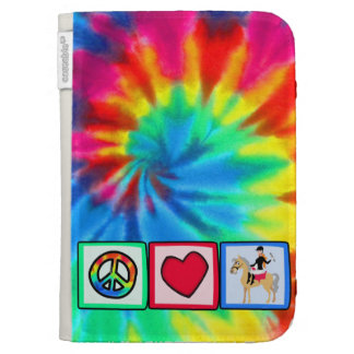 Peace, Love, Equestrian Kindle Keyboard Cases
