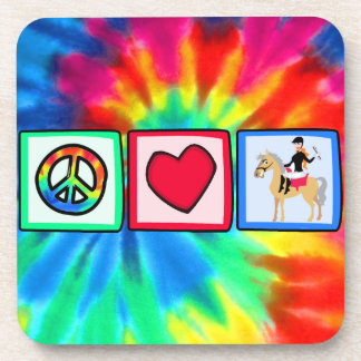 Peace, Love, Equestrian Drink Coaster