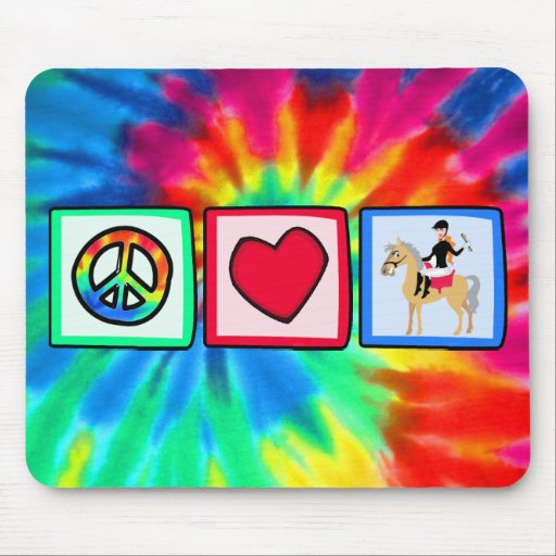 Peace, Love, Equestrian Mouse Pad