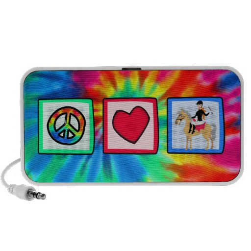 Peace, Love, Equestrian iPod Speakers