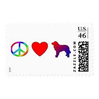 Peace Love Estrela Mountain Dogs Postage Stamps
