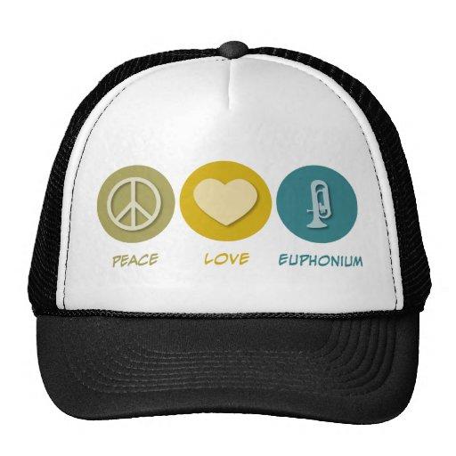 Peace Love Euphonium Trucker Hat