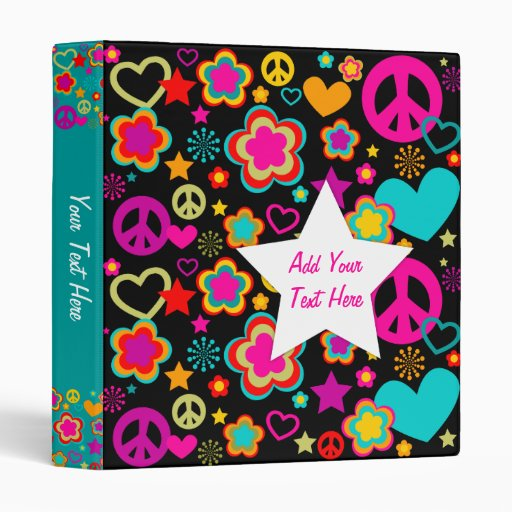 Peace Love & Everything Girly 3 Ring Binder