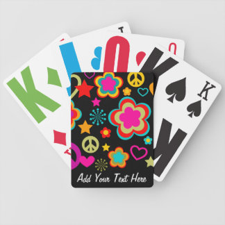 Peace Love & Everything Girly Bicycle Playing Cards