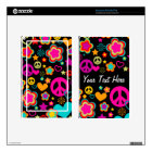 Peace Love & Everything Girly Decal For Kindle Fire