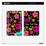 Peace Love & Everything Girly Kindle Fire Skin