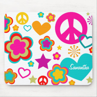 Peace Love & Everything Girly Mouse Pad