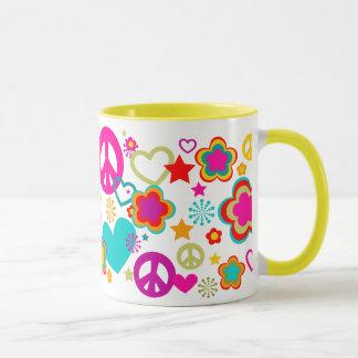 Peace Love & Everything Girly Mug