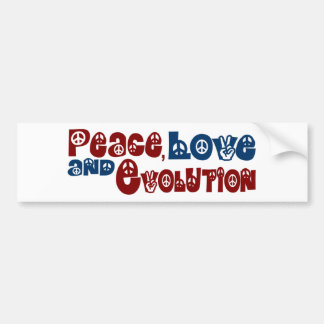 Peace Love Evolution Bumper Sticker