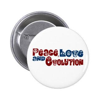 Peace Love Evolution 2 Inch Round Button