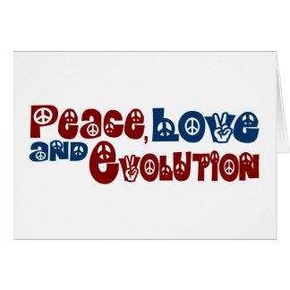 Peace Love Evolution Card