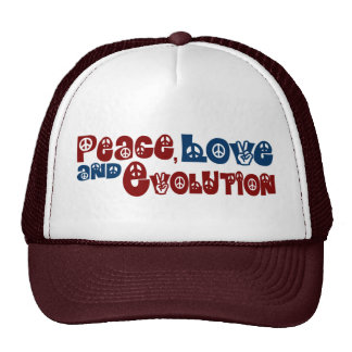 Peace Love Evolution Trucker Hat