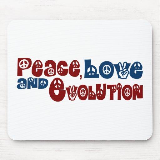 Peace Love Evolution Mouse Pad