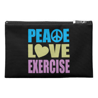 Peace Love Exercise Travel Accessory Bags