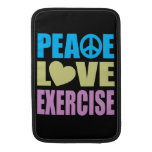 Peace Love Exercise MacBook Sleeve
