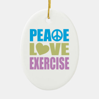 Peace Love Exercise Ornaments