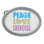 Peace Love Exercise Oval Belt Buckles