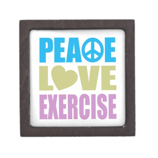 Peace Love Exercise Premium Gift Box