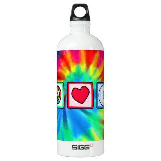 Peace, Love, Eyeball Aluminum Water Bottle