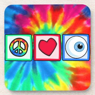 Peace, Love, Eyeball Coaster