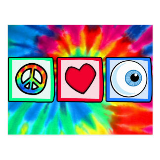 Peace, Love, Eyeball Postcard