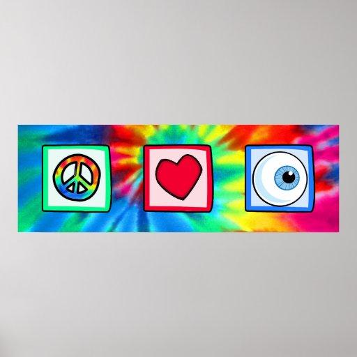 Peace, Love, Eyeball Poster
